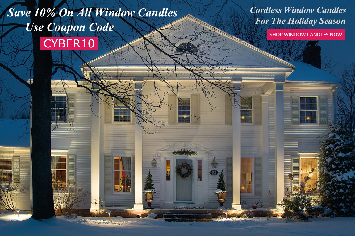 Christmas Window Candles.Cordless Window Candles Christmas Window Decorations
