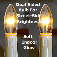 Replacement Bulbs for LED Cordless Window Candles (set of 2) With Ivory Taper