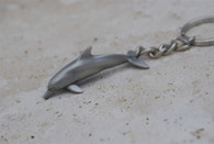 Big Blue Pewter Dolphin Keychain