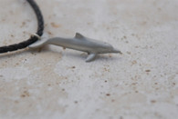 Big Blue Pewter Dolphin Pendant
