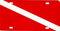 Dive Flag License Plate - Aluminum