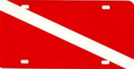 Dive Flag License Plate - Aluminum