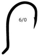 MUSTAD Beak Bait Hook Size 6/0 6 Pack 92568BLN
