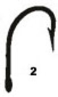 MUSTAD HOOKS 9174 O'Shaughnessy Hook Size 2 10 Pack