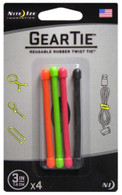 "Nite Ize 3"" Gear Tie 4-Pack"