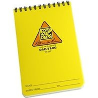 "Jl Darling Llc 157 4"" X 6"" Yellow Daily Log Notebook"