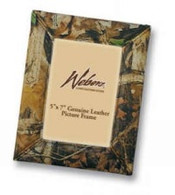 "Webers Camo Leather Goods Camouflage Leather Picture Frame (5""x 7"" size)"