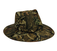 Outdoor Cap Camo Outback Hat with Leather Chin Strap - Mossy Oak Break-Up