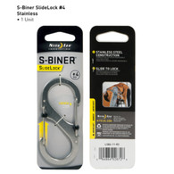 Nite Ize SlideLock S Biner #4-75 lb. Stainless Steel