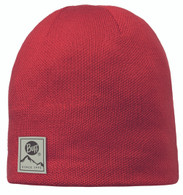 Buff Knitted & Polar Hat - Red