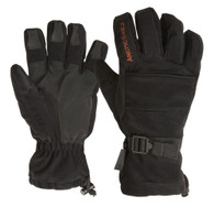 Arctic Shield Camp Gloves with Removable Fleece Liner - Black - Small