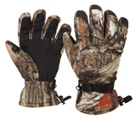 Arctic Shield Camp Gloves with Removable Fleece Liner - Mossy Oak Infinity - Small