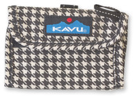 Kavu Wally Wallet - Black Houndstooth