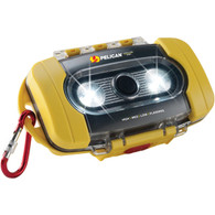 Pelican Waterproof Case with LED Light - Yellow