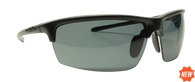 Reflekt Unsinkable Polarized Sunglasses Vapor - Raven with Color Blast Grey Lens.