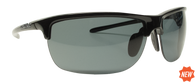Reflekt Unsinkable Polarized Sunglasses Vapor 2.0 - Ebony with Color Blast Grey Lens