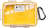 Pelican 1020 Micro Case Yellow/Clear with Liner