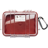 Pelican 1020 Micro Case Red/Clear