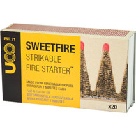 UCO Sweetfire Strikeable Firestarter, 20 Pieces