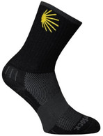 Wrightsock Escape Crew Height Socks - Medium, Black Camino Logo