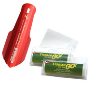 The Deuce Ultralight .6oz Backpacking potty Trowel (Fire)  Bundle with Coghlan's Tissue on the Go!