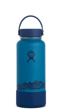 Hydro Flask Wide-Mouth Emerald Water Bottle with Boot - 32 fl. oz.