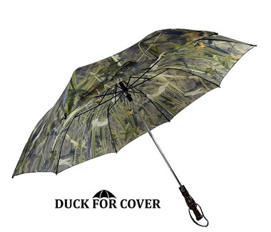 Duck For Cover Umbrella Duck for Cover Decorative Duck Call Handle Umbrella with REEDS-n-WEEDS CAMO (DFCU2)