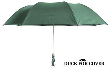 Duck for Cover(TM) Decorative Duck Call Handle Umbrella - Hunter Green
