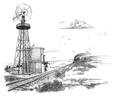 Train Coming Around the Bend Pencil Sketch by Craig Cassell, a quadraplegic artist who draws with his mouth.