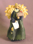 Teacher Angel w/ School Supplies Polymer Clay Figurine