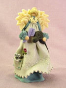 Hairdresser Angel with Accessories Polymer Clay Figurine