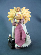 Sewing Angel Polymer Clay Figurine