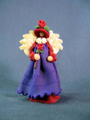 Red Hat Society Angel Polymer Clay Figurine