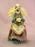 """Grandmothers are Heaven Sent"" Angel Polymer Clay Figurine"