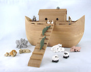 Noah's Ark Polymer Clay Figurine Set