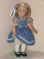 JUMPER, BLOUSE BLUE PLAID 18 inch American Girl Doll Clothes