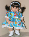 Handmade Doll Clothes fit 15 inch American Girl Bitty Baby, Twin - Bears