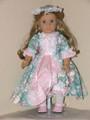 American Girl Doll Clothes Felicity Elizabeth ROSEBUD DRESS