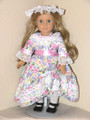 PINK FLORAL DRESS for American Girl Dolls Elizabeth Felicity