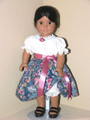 BLOUSE, BLUE ROSE SKIRT  for American Girl Dolls Josefina, Julie