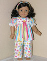 PAJAMAS SPARKLE STRIPE Handmade Clothes for American Girl Dolls