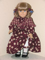 BURGUNDY DRESS with SHAWL Kirsten Handmade American Girl Clothes