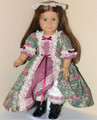 Felicity Handmade 18 inch American Girl Doll Clothes Green Mauve