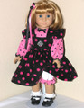 18 inch PINK DOT CORDUROY JUMPER Handmade American Girl Clothes