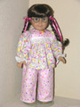 18 inch Handmade Pajamas for American Girl Dolls Pink Lavender