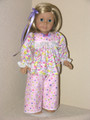 18 inch Pajamas Handmade American Girl Clothes Lavender Pink