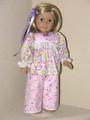 18 inch Pajamas Handmade American Girl Clothes Lavender Pink