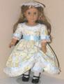 American Girl Handmade Doll Dress Felicity Elizabeth Blue Floral