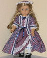 Felicity Handmade American Girl Doll 18 inch Dress Blue Mauve