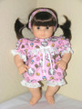 Handmade Pajamas for American Girl 15 inch  Bitty Baby Doll - Pink Kitty